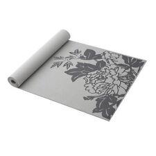 Gaiam Print Yoga Mat, Gray Peony Prosperity, 3mm