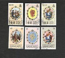 Vanuatu Hong Kong SC#308-10 #373-75 ROYAL WEDDING 1981  used stamps