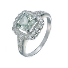 Sterling Silver Green Amethyst Ring (0.90 CT)