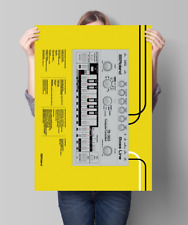 Roland TB 303 (TR 606 808 909) Print Size A1 Limited edition, yellow.