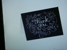 Set of 10 Chalkboard Heat Thank You Note Cards - with Envelopes
