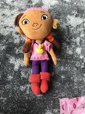 Disney Parks Store Jake and the Neverland Pirates Izzy Girl Plush Doll 14""