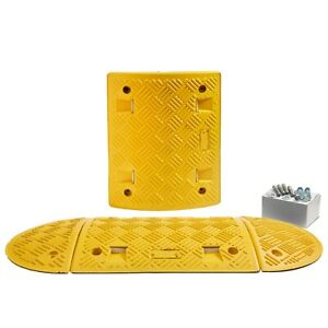 1.5 M All Yellow Speed Ramp Kit: 75mm 5 MPH (Fixings Included)