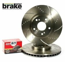 For Nissan 300ZX Front Brake Discs & Mintex Pads Dimpled Grooved Z32 Twin Turbo