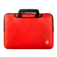 """Red 15 """" Laptop Carrying Bag Messenger Backpack Briefcase Sleeve For Macbook Pro"""