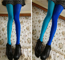 Women Patchwork Footed Tights Stretchy Pantyhose Stockings Elastic Long Socks