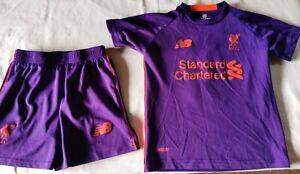 Football kit Liverpool purple age 8-9  size 10 Salah 11