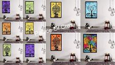 Indien Small Tapestry Elephant Tree of Life Poster Wall Hanging 20 PC Wholesale