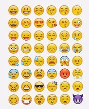 Emoji Smiling Face 48 Stickers in One Sheet