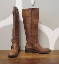 ENZO ANGIOLINI 7.5 Brown Leather Womens SAYLEM Double Buckle Calf Boots