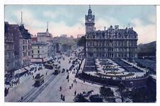 Postcard St Johns Cathedral Edinburgh Scotland Double Decker Buses 1917 Unused