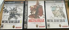 Playstation 2 PS2 Metal Gear Solid The Essential Collection MGS 1, 2, & 3