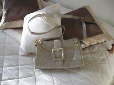 Ladies Shoulder or Hand  Bag  Design Miss M Crocodile Skin Fawn  Material Vinyl