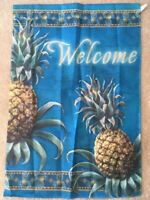 Pineapple Welcome Decorative House Flag