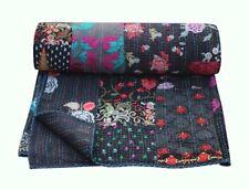 Indien silk khambhadia patchwork kantha quilt handmade vintage bedding bedspread