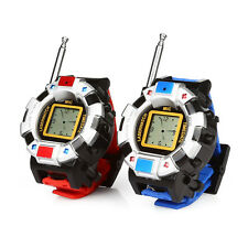 2 x WRIST WATCH TWO-WAY RADIO WALKIE TALKIE KIDS WRIST RADIO TOY SPY 007 GADGETS