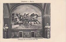 """Postkarte - Berlin / Zeughaus - Gemälde """"Übergang über das kurische Haff 1679"""""""