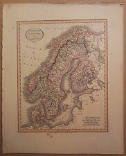 JOHN CARY MAP OF SWEDEN DENMARK AND NORWAY 1813 FROM HIS New Elementary Atlas