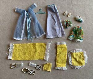 Vintage Sindy Clothes Misty Blue Lingerie Towels Accessories