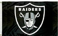 Oakland Raiders Football Flag ~ Large 3'X5' ~ NFL Banner ~ FREE SHIPPING