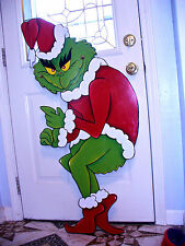 done & ready to ship GRINCH THAT STOLE THE CHRISTMAS LIGHTS  YARD ART