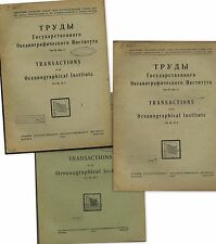 1933 Russian Arctic research : Oceanographical Institute Vol.1,2,3 Russland