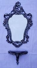 Set con Negro Blanco Espejo de pared + eMPLAZAMIENTO CONSOLA 50x76 antigua
