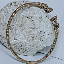 massiver Bronze Drachen Torques Halsreif flexibel Kelten Halsspange Drachenkopf