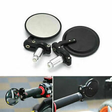 "Motorcycle 2"" Round 7/8"" Handle Bar End Rearview Side Mirrors Universal Foldable"