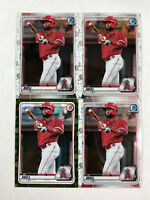 JO ADELL LOT OF 4 2020 RC's! Bowman Chrome #BCP-100 (x3) + Bowman CAMO #BP-100!