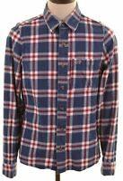 HOLLISTER Mens Flannel Shirt Medium Multi Check Cotton  NL62