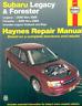 Haynes Workshop Manual Subaru Legacy Forester 2000-2009 Legacy Outback Baja