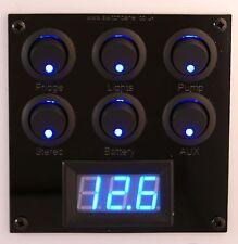 6 Switch/Electrics/Voltmeter/USB 12V Panel Campervan Motorhome VW