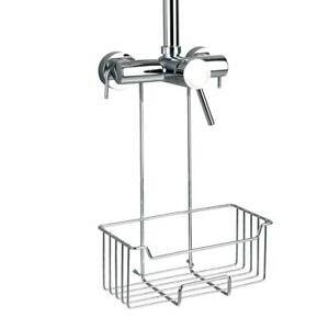 Wenko Thermostat Bathroom Shower Caddy Milo Ample Space, Stainless Steel, Silver