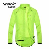 Santic Cycling Coat Mens Windproof Waterproof Long Sleeve Rain Jacket MTB Bike
