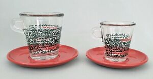 (2) Nespresso - ESPRESSO & COFFEE Cup & Saucer - America's Cup 2007 - RARE