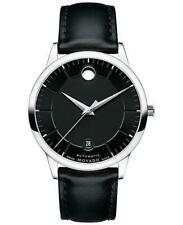 Movado 1881 Automatic Mens Black Leather Strap Swiss Watch 0606873