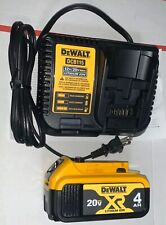 DeWalt Battery Dcb204 & Charger Combo Dcb115 - Date Code 2020