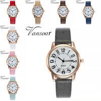 Frauen Casual Quarz Leder Band neue Strap Watch Analog Digital Armbanduhr