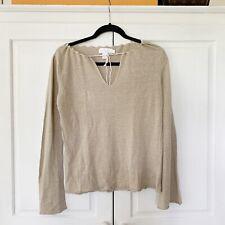 DKNY Pure Long Sleeve Linen Top, Sz S