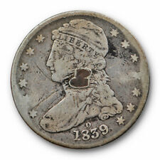 1839 O Capped Bust Half Dollar Reeded Edge Very Good VG Details Damaged