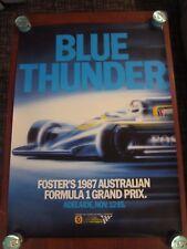 Fosters Australian Grand Prix Motor Racing Poster 1987. Adelaide, Australia.