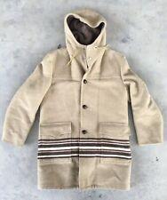 Vintage Woolrich Jacket Blanket Hooded Aztec Sz. 40 USA Union Made Long Coat