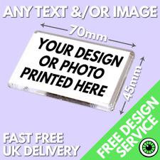 More details for 70 x 45mm custom printed magnet • personalised fridge magnets medium size print