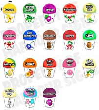 """18 ( 4""""X6""""each) Shave Shaved Ice Snow Cone Decal Concession Food Truck Sticker"""