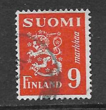 FINLAND POSTAL ISSUE - USED DEFINITIVE STAMP 1950 - COAT OF ARMS - LION 1930