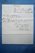 Division of Referred Claims Doc. Signed by Paymaster J.W Nicholls