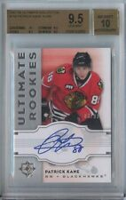 PATRICK KANE 2007 08 UD ULTIMATE COLLECTION ROOKIE AUTO BGS 9.5 - JERSEY # 88/99