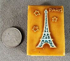 Vintage Enamel Match Box Holder Paris France Eiffel Tower - Estate Find