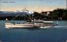 Chiemsee Schiffahrt Schiff Ludwig Tessier 1929 AK gelaufen mit Stempel PRIEN